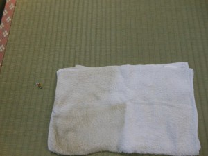 畳を掃除した後