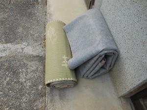 絨毯と上敷き