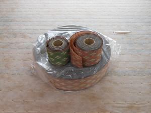 ピンクとグリーンの畳縁