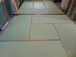 ダイケン銀白と梅の柄の畳縁