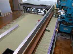 畳の製造の途中