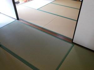 イ草の畳の部屋と和紙の畳の部屋