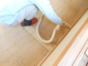 畳の下の床板掃除