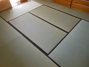 夕凪を使った8畳居間の表替え後