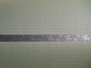 菊の柄の畳縁