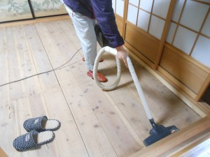 和室6畳の床下掃除