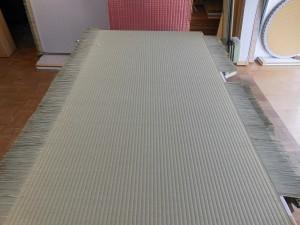 新調畳の製作途中