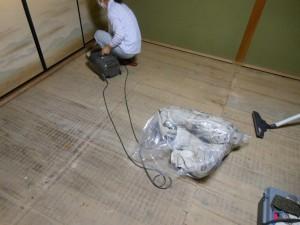 畳の下の掃除