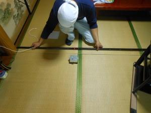 畳のお部屋の採寸