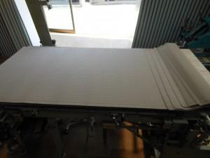裁断した和紙畳表