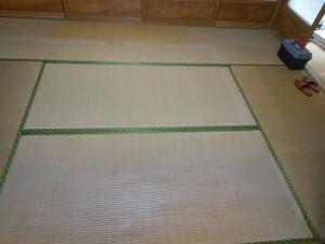 入れ替え前の畳