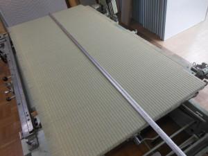 製作途中の畳の写真