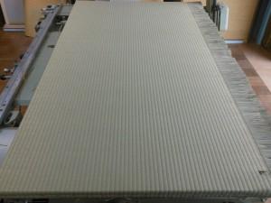 施工途中の畳