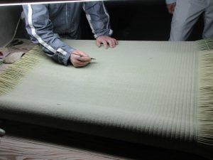 畳表の仕上げ
