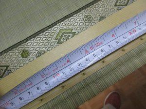 畳縁の縫い幅