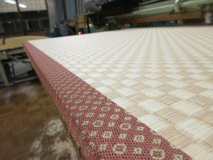 和紙の畳、市松柄