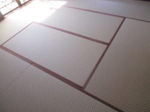 和紙の畳 市松柄