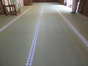 丹生川上神社・下社さま新調畳24畳