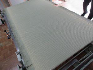 製作中の畳