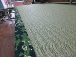 迷彩柄の畳縁を付けた畳