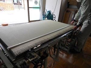 畳の製造 検寸2