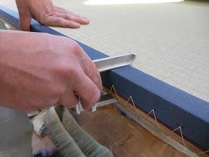 畳の製造 仕上り厚チェック