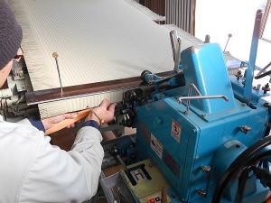 畳の製造 カマチ縫い2