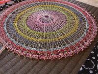 南たたみ店の 畳の糸かけ曼荼羅